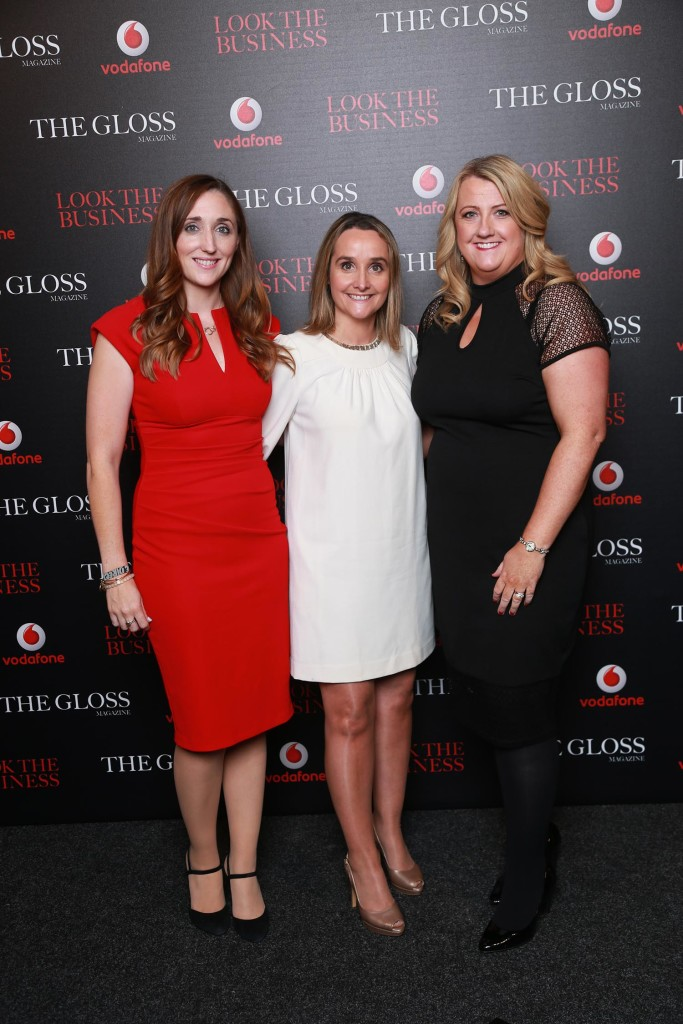 Tara Goldrick, Anne Sheehan and Catherine Plunkett from Vodafone