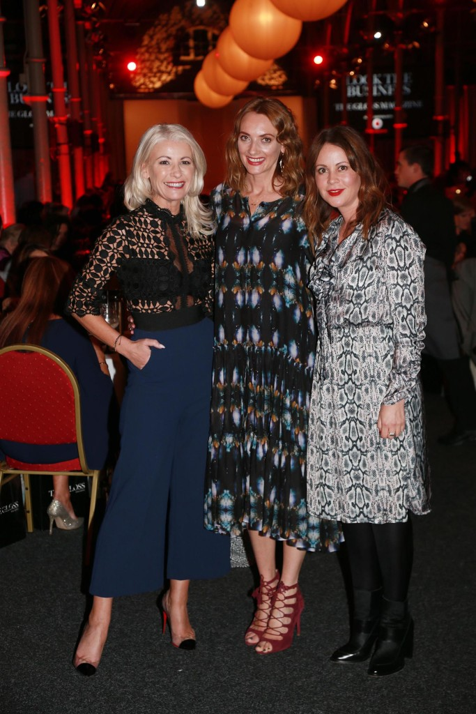 Sharon Bannerton from Bannerton, Ingrid Hoey, Stylist and Tara Farrell from RTE