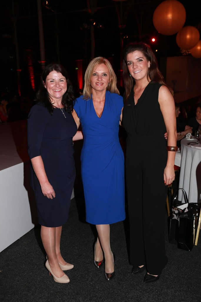 Florence Higgins from Vodafone, Karen O'Flaherty from Morgan McKinley and Laura Harrington from Vodafone