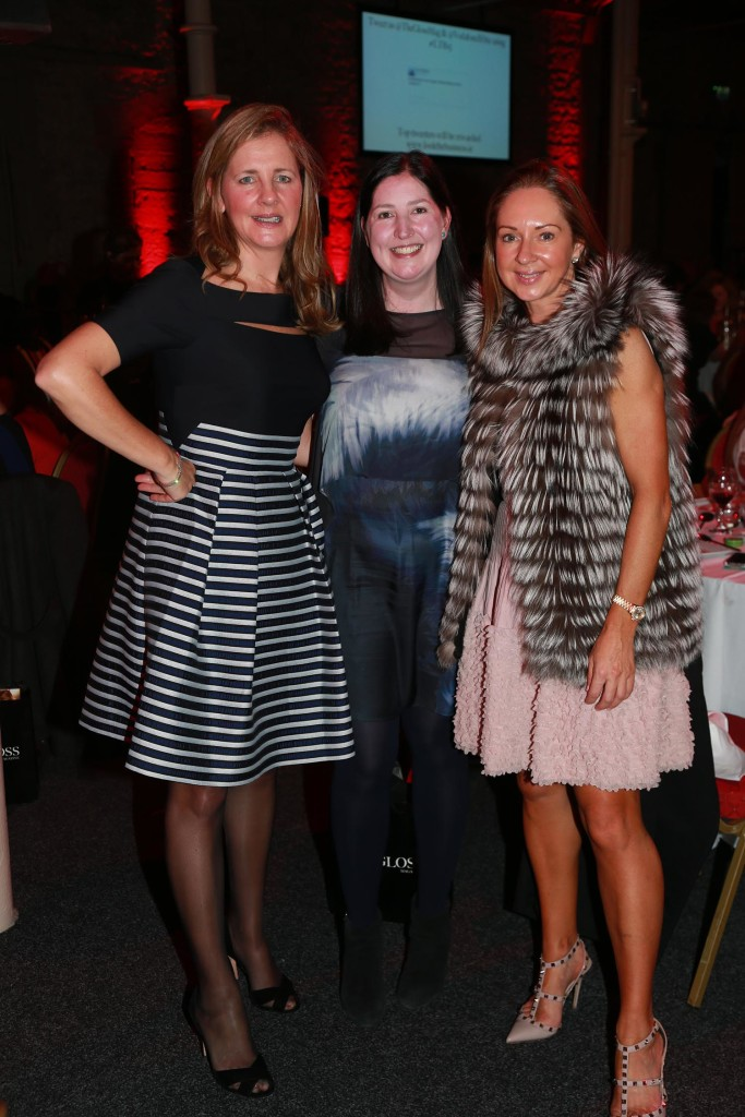 Ita Finnegan from Malin, Treasa Doran from Vodafone and Michelle Casey from Aqua Beauty