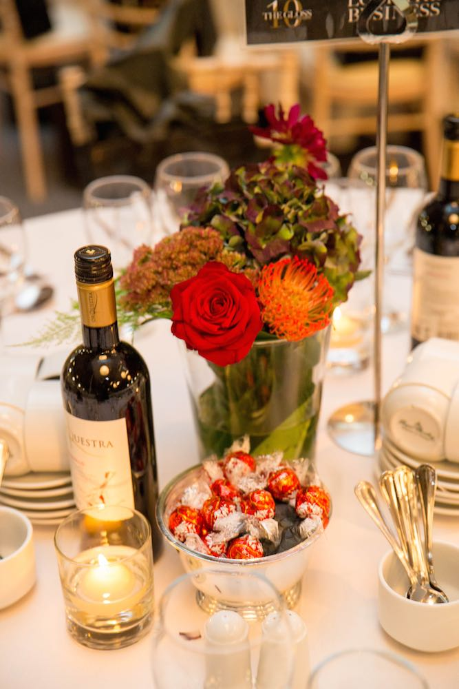 Flowers by The Garden Powerscourt with chocolates by Lindt at Look The Business 2016