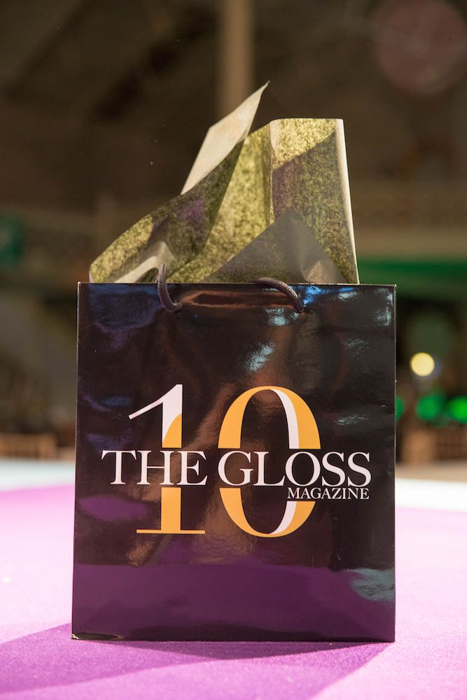 The luxurious tenth birthday goody bags for Look The Business 2016