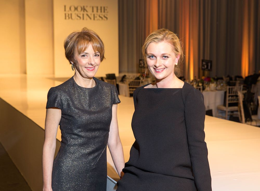 Guest speaker Lucy Kellaway from the Financial Times with Sarah McDonnell, Editor of THE GLOSS