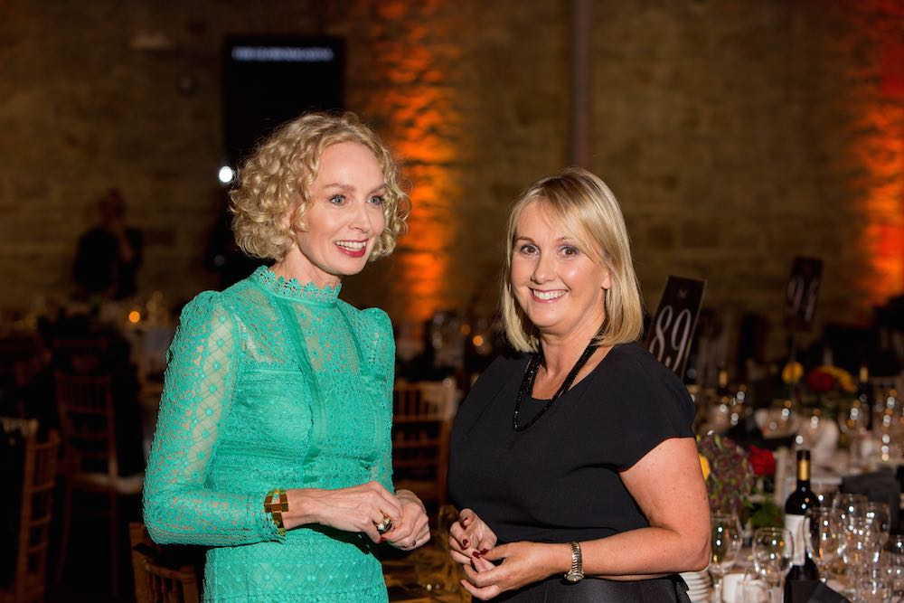 Anne O'Leary CEO of Vodafone and Jane McDonnell Publisher of THE GLOSS
