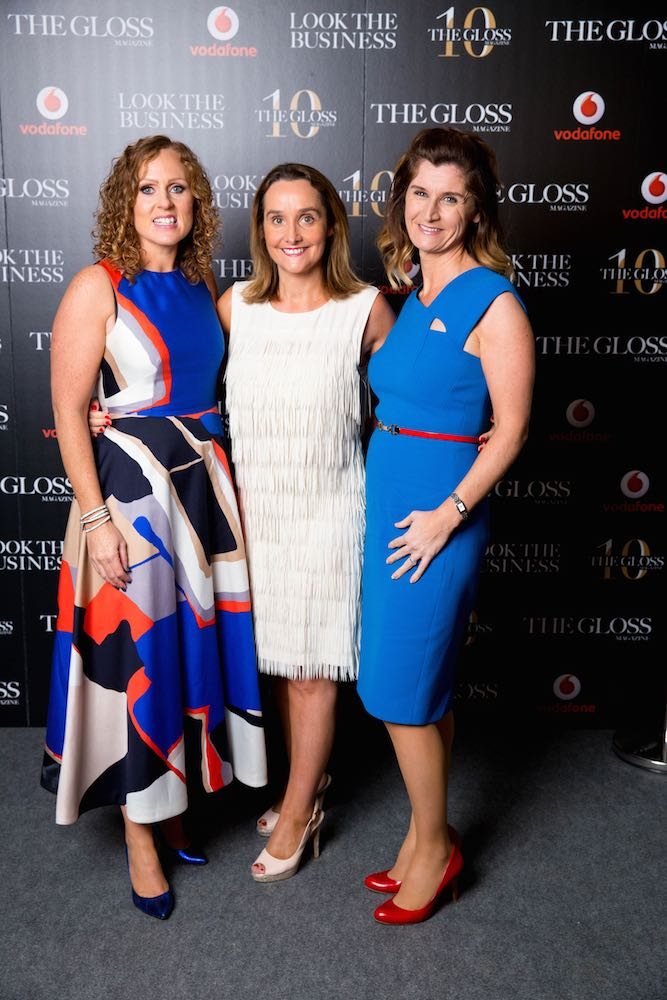 Carolanne Henry, Anne Sheehan and Claire Reynolds from Vodafone