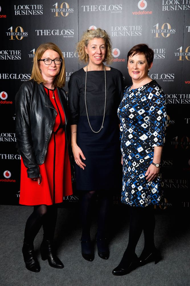 Carmel Murphy from Arnotts, Lisa Lowry from World Rugby and Joanna Hyde from Eversheds