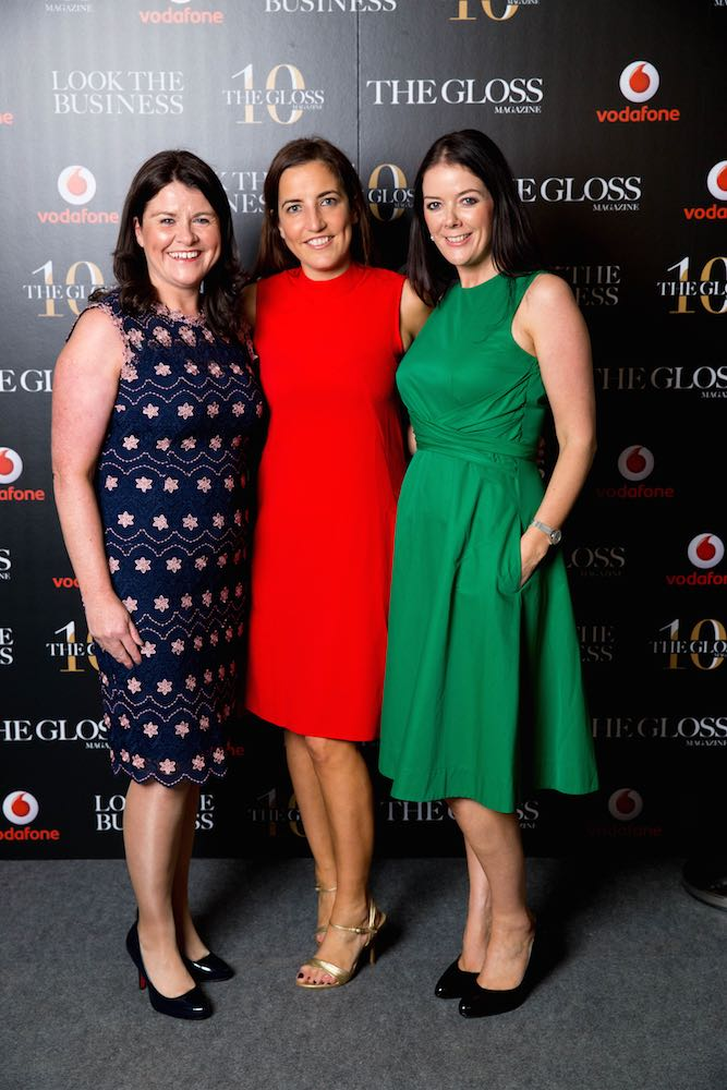 Florence Higgins and Georgina Pavlides and Edwina McDonnell from Vodafone