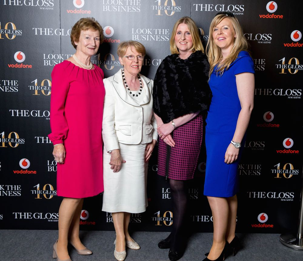 Fionnuala O'Sullivan from Irish Antiques, Lucy Rogers from RCC Engineering, Anne Fitzpatrick and Norma Rogers from Aveda