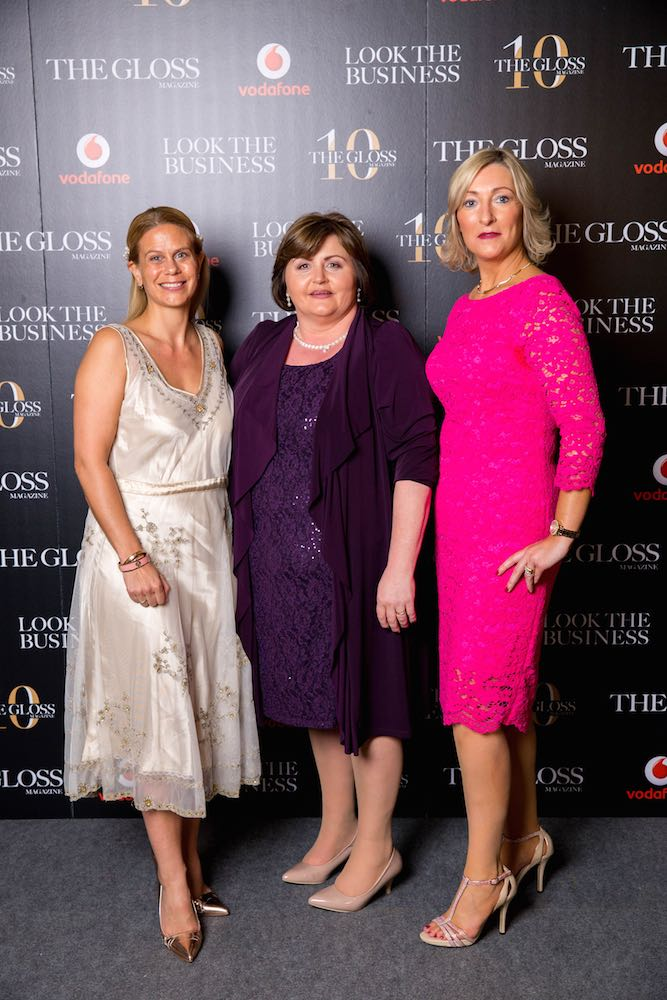 Jo Gilfoy from Vodafone, Breda Leahy from Curtains Direct and Madeline Hayes from Vodafone