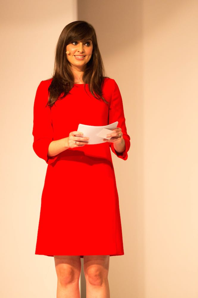 Aoibhinn Ní Shúilleabháin on stage at Look The Business 2016