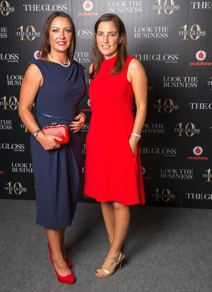 Anne Marie Lanigan from CRH and Georgina Pavlides from Vodafone
