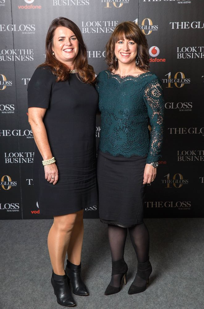 Ciara Garrigan from Irish Life and Linda White from Vodafone