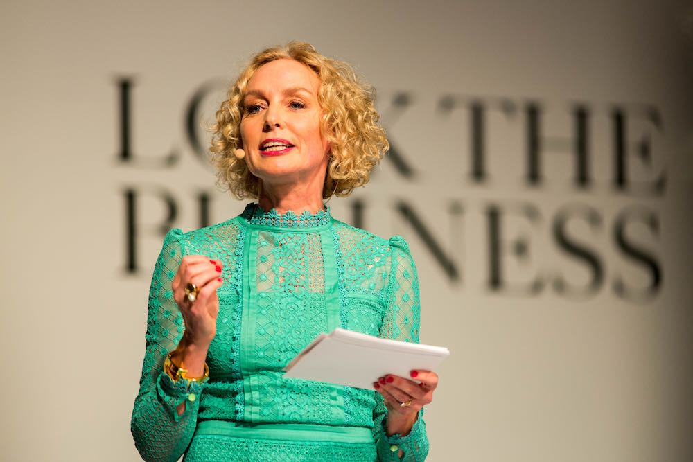 Anne O'Leary CEO of Vodafone on stage at Look The Business 2016
