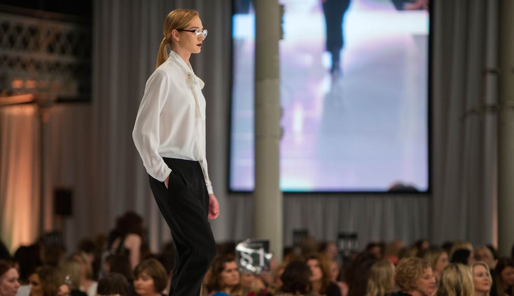 The Look The Business 2016 fashion show featuring Nordic Glamour dressing by Selected Femme