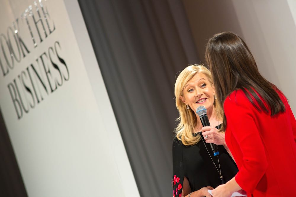 Louise Kennedy and Aoibhinn Ní Shúilleabháin on stage at Look The Business 2016