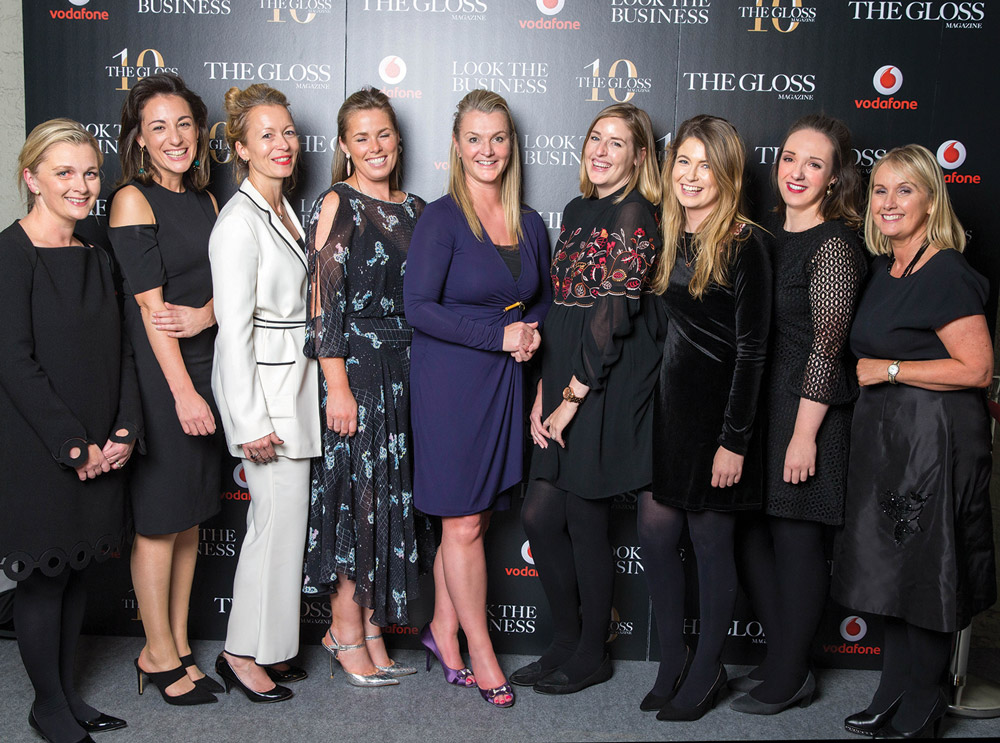 Sarah McDonnell (Editor), Sarah Geraghty, Sarah Halliwell, Aislinn Coffey, Tracy Ormiston, Sarah Breen, Hannah Popham, Laura Kenny and Jane McDonnell (Publisher), from THE GLOSS