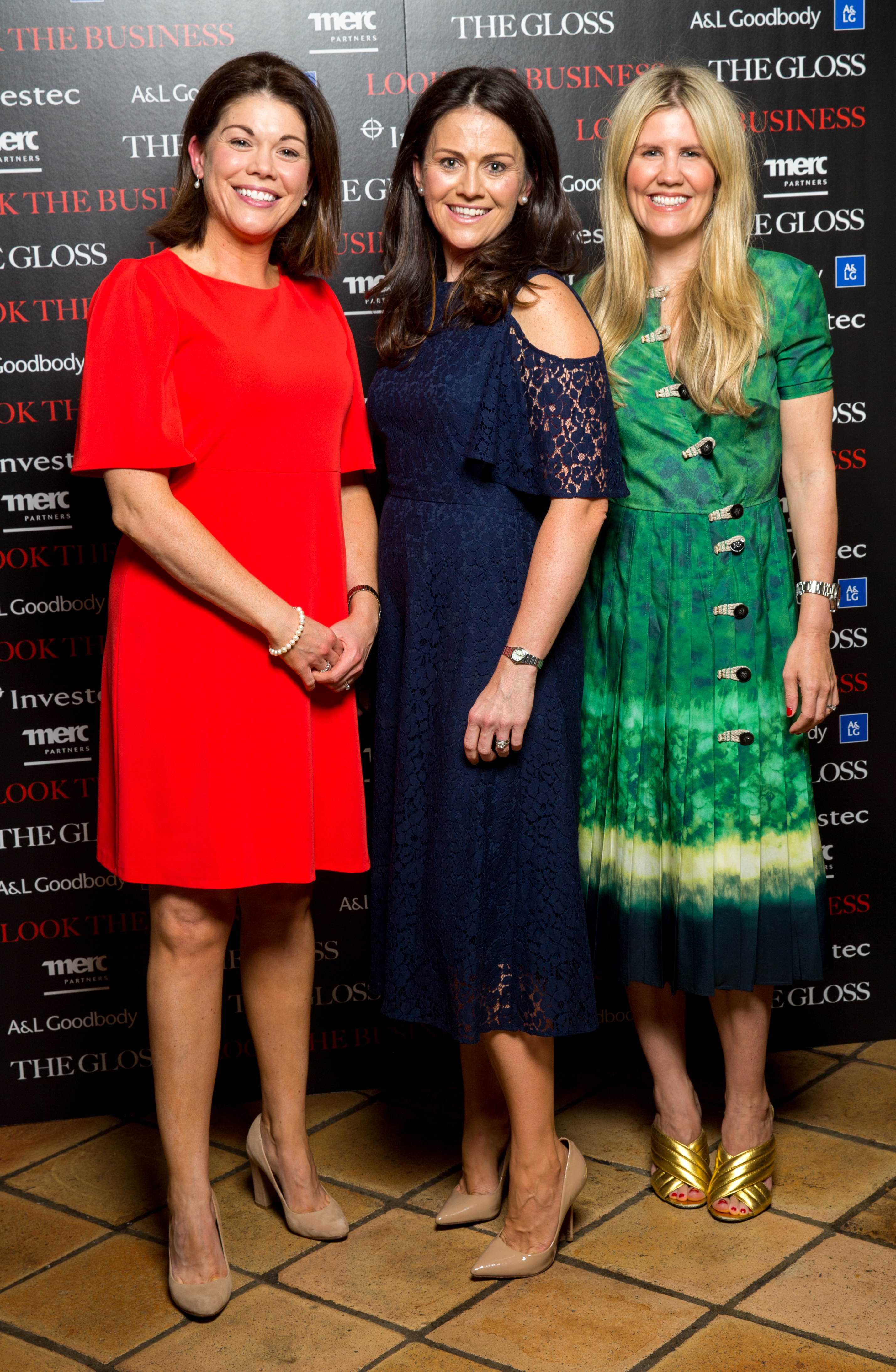 Jacky Tehan Woodford , Catherine Flavin Investec and Pippa Holt ( Pippa Holt Kaftans)