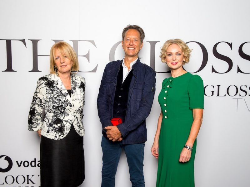 Sally O'Sullivan, Richard E Grant and Anne O'Leary