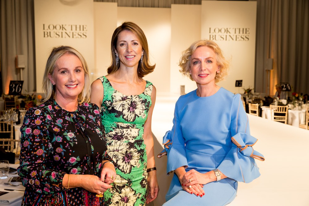 Jane McDonnell, Publisher of THE GLOSS Magazine, Dame Helena Morrissey, Founder of The 30% Club and Anne O'Leary, CEO of Vodafone