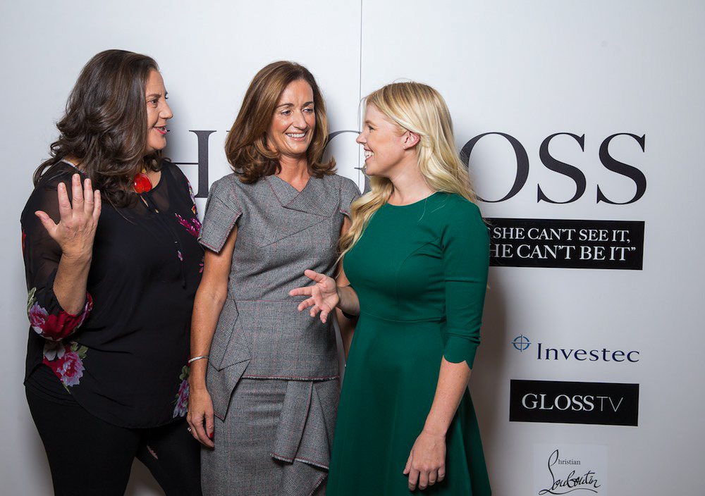 Sammy Leslie of Castle Leslie, Aisling Dodgson, Investec and Stephanie Meadow, professional golfer and Investec Ambassador